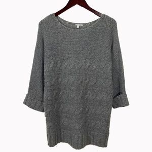 HALOGEN Chunky Cableknit Cashmere Blend Sweater